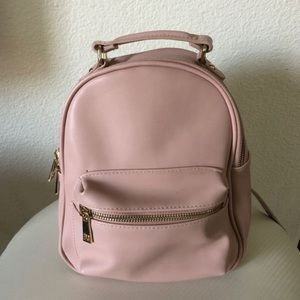 Pink Mini Backpack Vegan Leather
